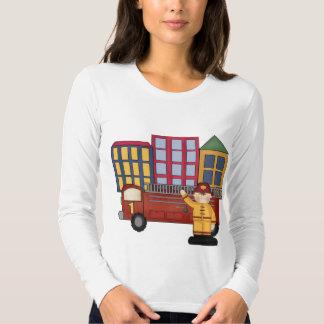 1st födelsedag för brandman t-shirt