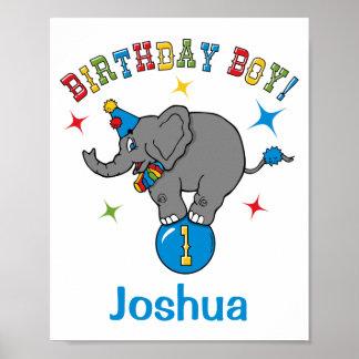 1st födelsedag för cirkuselefant poster