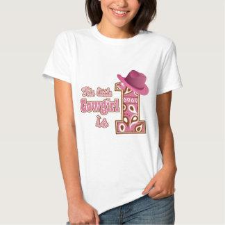 1st födelsedag för Cowgirl Tshirts