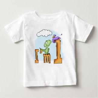 1st födelsedag för Dino roligt Tee Shirts