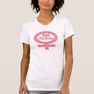 1st födelsedag för flickor t shirts