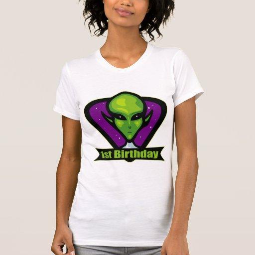 1st födelsedag för främling tröjor