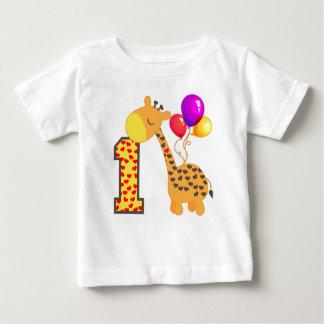 1st födelsedag för giraff tee