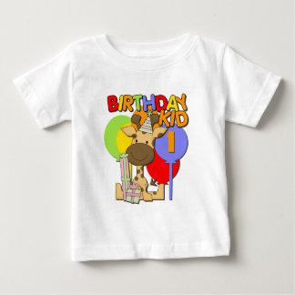 1st födelsedag för giraff tee shirt