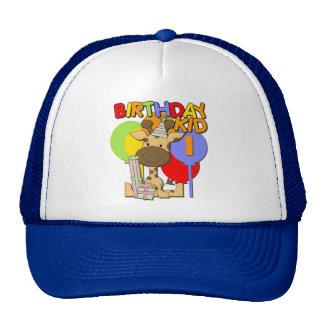 1st födelsedag för giraff trucker kepsar