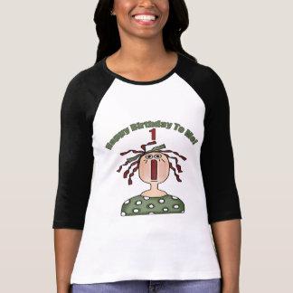 1st födelsedag för grattis på födelsedagen t-shirt