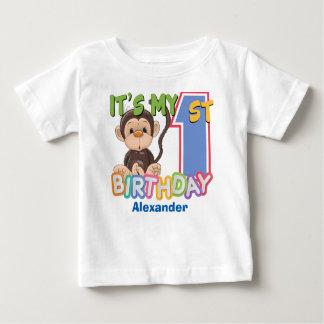 1st födelsedag för gullig apa t shirt