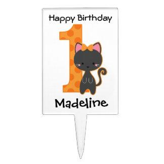 1st födelsedag för Halloween kattunge Tårtdekoration