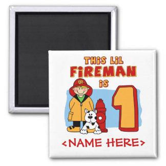 1st födelsedag för Lil brandman Magnet