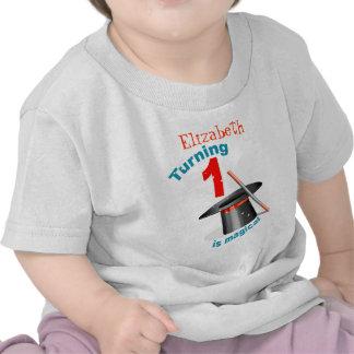 1st födelsedag för magiskt party tee shirt