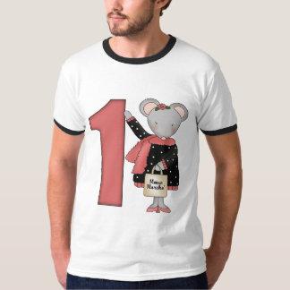 1st födelsedag för mus tee shirt