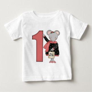 1st födelsedag för mus t-shirts