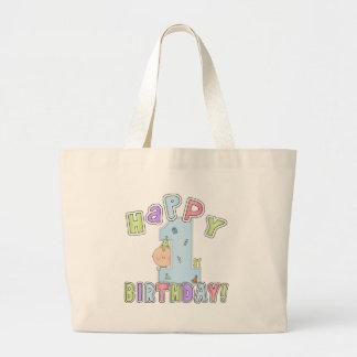 1st födelsedag för pojkelycklig jumbo tygkasse