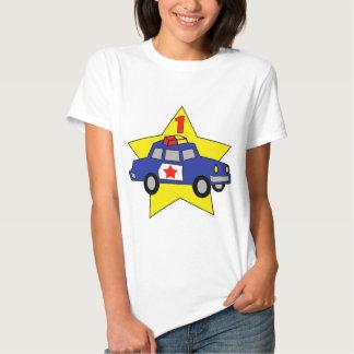 1st födelsedag för polis t shirts