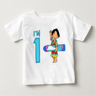 1st födelsedag för surfareDude Tee Shirts