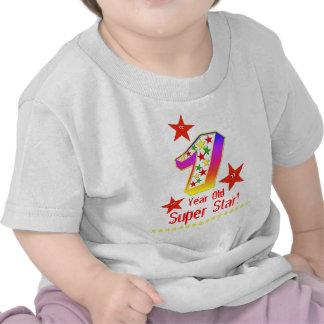 1st födelsedag för toppen stjärna för pojkar tee shirt