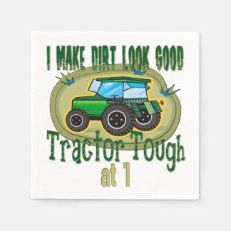 1st födelsedag för traktortuff papper servett
