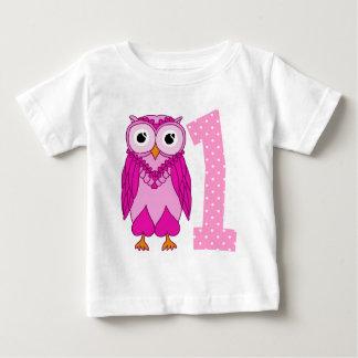 1st födelsedag för uggla tee shirts