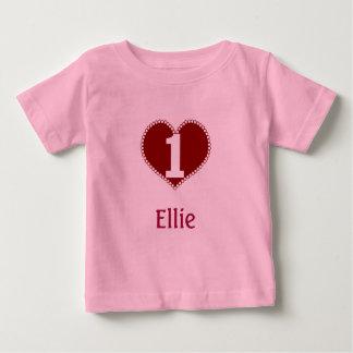 1st födelsedag för valentin t-shirts