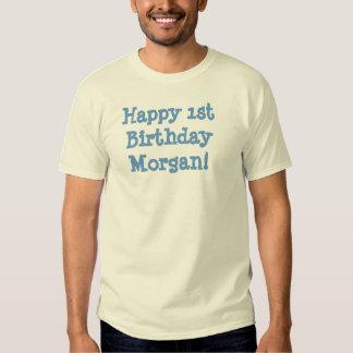 1st födelsedag Morgan för lycklig! T Shirt