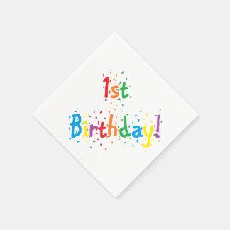 """1st födelsedag! ""Pappra servetter"