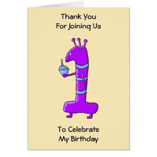 1st Födelsedag. Tecknad i Purple.