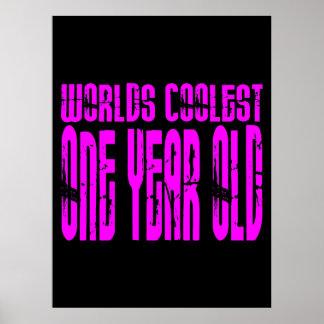 1st födelsedagar för flickor Kallast ett år för r Affischer