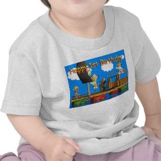 1st födelsedagbaby för lycklig skjorta för T T Shirt