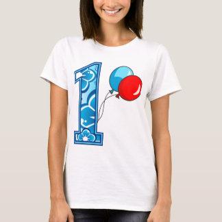 1st Födelsedagblommigt och ballonger Tshirts