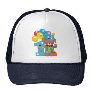 1st Födelsedagclownbjörn Baseball Hat