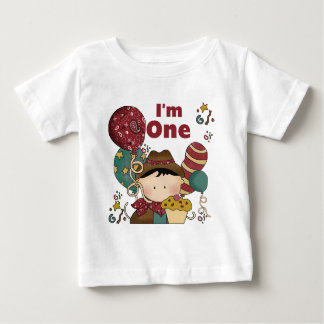 1st FödelsedagCowboyTshirts och gåvor Tee Shirt