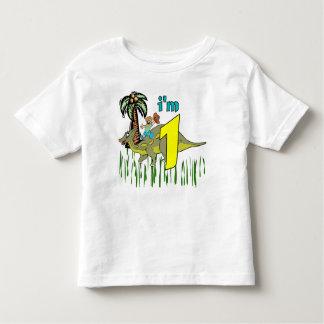 1st födelsedagdinosaur för pojke tee shirt