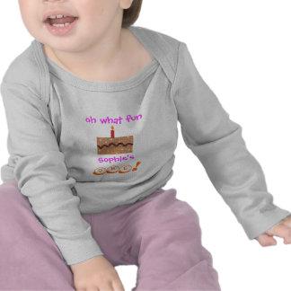 1st födelsedagdräkt för flickor - personlig med na tröjor