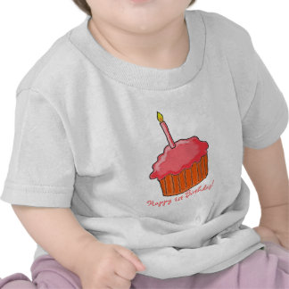 1st Födelsedagflickakonst Tshirts