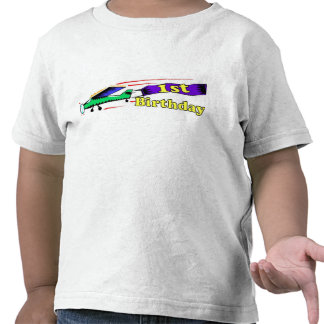 1st födelsedagflygplan för pojke tröjor