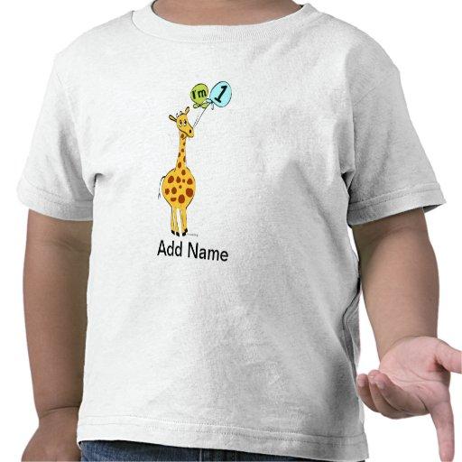1st Födelsedaggiraff med ballonger T-shirts