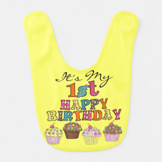 1st födelsedaghaklapp för nätt muffins