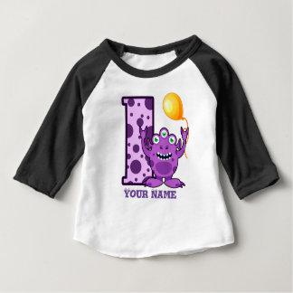 1st Födelsedagmonsteranpassningsbar T-shirt