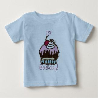 1st födelsedagmuffinskjorta t-shirt