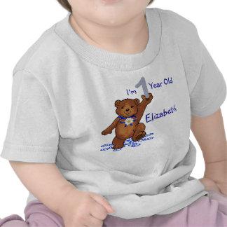 1st Födelsedagnalle för flicka Tee Shirt