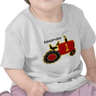 1st födelsedagpersonlig för röd traktor t shirts