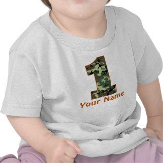 1st FödelsedagpersonligCamo skjorta Tee Shirts