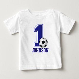 1st Födelsedagpojkefotboll, fotbollpersonlig Tshirts