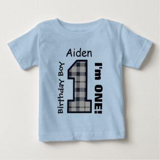 1st FödelsedagpojkePLÄD ett årsanpassningsbarnamn Tee Shirt