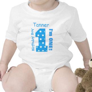 1st FödelsedagpojkeSTJÄRNOR 1 år anpassningsbarnam Tshirts