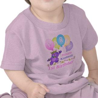 1st FödelsedagPrincess anpassningsbarnamn Tee Shirts