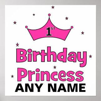 1st FödelsedagPrincess!  med rosakronan Print