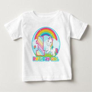 1st FödelsedagregnbågeUnicorn - födelsedagflicka T-shirt