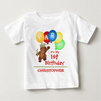 1st födelsedagsfestanpassningsbar för kunglig t-shirts