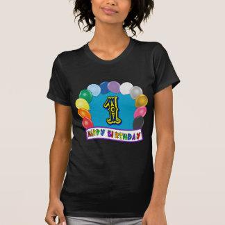 1st Födelsedagskjorta med blandad ballongdesign Tshirts